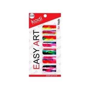 Наклейка для дизайну нігтів Kodi Professional Easy Art E08
