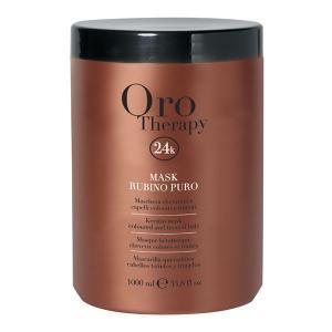 Рубінова маска з кератином для фарбованого волосся Fanola Oro Therapy 1000 мл - 00-00006615