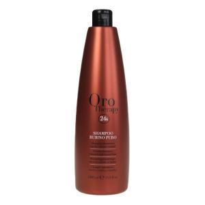 Рубиновый шампунь с кератином для окрашенных волос Fanola Oro Therapy 1000 мл - 00-00006618
