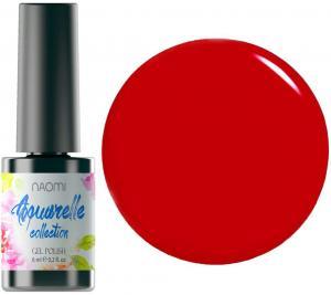 Гель-лак для нігтів Naomi 'Aquaurelle' №03 Щільний червоний (емаль) 6 мл - 00-00006925