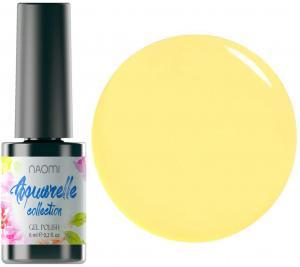 Гель-лак для нігтів Naomi 'Aquaurelle' №07 Щільний жовтий (емаль) 6 мл - 00-00006929