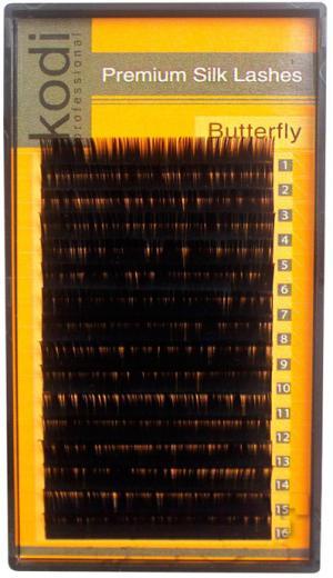 Ресницы для наращивания Kodi Professional черные Butterfly №C.0.15 16 рядов: 12 мм