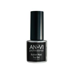 Фінішне покриття з матовим ефектом ANVI Professional Rubber Matt Top Gel 9 мл - 00-00007183