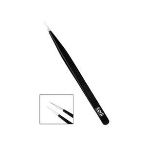 Пінцет для нарощення вій Kodi Professional прямий 14 см - 00-00007382