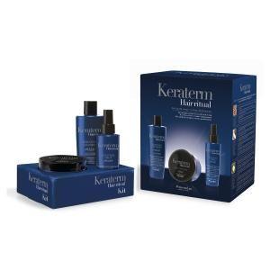 Набір для реконструкції пошкодженого волосся (шампунь+маска+спрей) Fanola Keraterm - 00-00008070