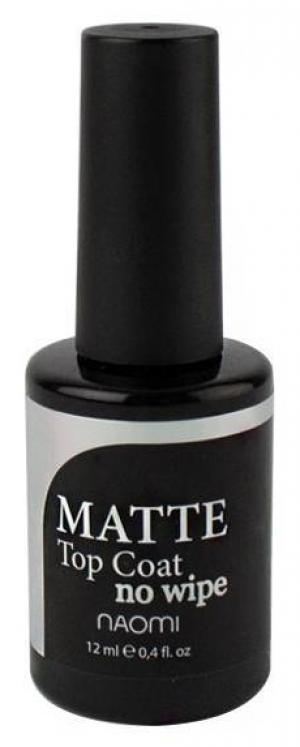 Матовий закріплювач для гель-лаку без липкого шару Naomi UV Top Gel No Wipe 12 мл - 00-00008118