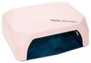 Професійна LED-лампа з сенсором для полімеризації гелю, світло-рожева 36W - 00-00008121