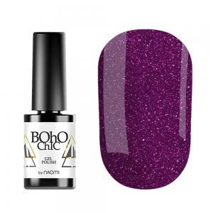 Гель-лак для нігтів Naomi Boho Chic №BC062 Ягідні блискітки на прозорій основі 6 мл - 00-00008227