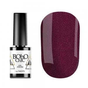 Гель-лак для нігтів Naomi Boho Chic №BC064 Щільний ягідний з перламутром і шимерами 6 мл - 00-00008229