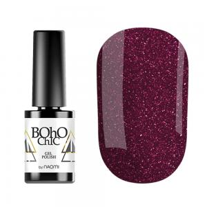 Гель-лак для нігтів Naomi Boho Chic №BC065 Щільний червоно-сріблясті блискітки на ягідній основі 6 мл - 00-00008230
