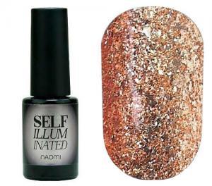 Гель-лак для нігтів Naomi 'Self Illuminated' №20 Щільний бронзово-золотий з блискітками і слюдою6 мл - 00-00008246