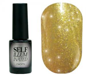 Гель-лак для нігтів Naomi 'Self Illuminated' №21 Щільний слюда на жовто-золотій підкладці 6 мл - 00-00008247
