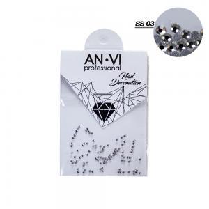 Стразы для дизайна ногтей Swarovski ANVI Professional 'Crystal Pixie' №SS03, 100 шт - 00-00008541
