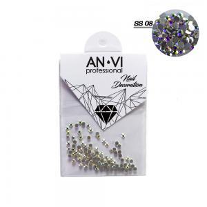 Стразы для дизайна ногтей Swarovski ANVI Professional 'Crystal Pixie' №SS08, 100 шт - 00-00008545