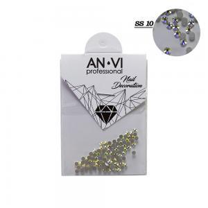 Стразы для дизайна ногтей Swarovski ANVI Professional 'Crystal Pixie' №SS10, 100 шт - 00-00008546