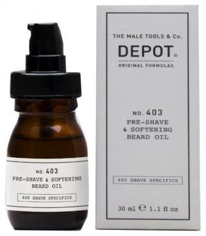 Пом'якшуюча олійка для бороди перед голінням Depot 30 мл - 00-00008630