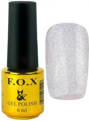 Гель-лак для нігтів FOX №109 Срібний глітер 6 мл - 00-00008643