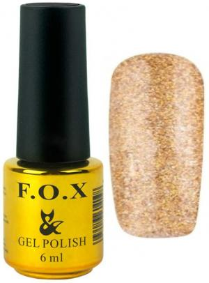 Гель-лак для нігтів FOX №110 Золотистий 6 мл - 00-00008644
