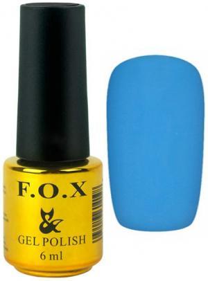 Гель-лак для нігтів FOX №124 Блакитний 6 мл - 00-00008658