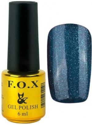Гель-лак для нігтів FOX №125 Синій глітер 6 мл - 00-00008659