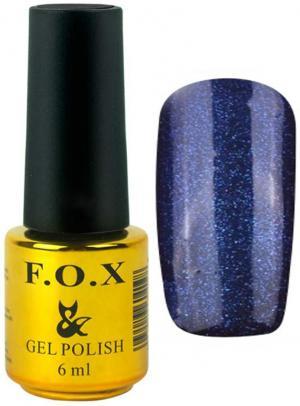 Гель-лак для нігтів FOX №134 Синій глітер 6 мл - 00-00008668