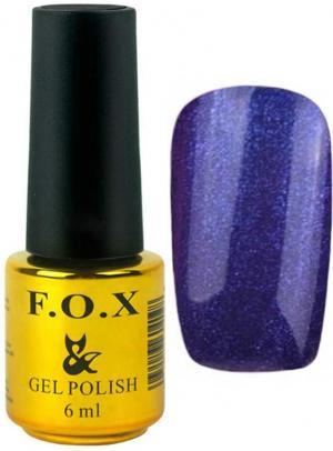 Гель-лак для нігтів FOX №143 Синій глітер 6 мл - 00-00008677
