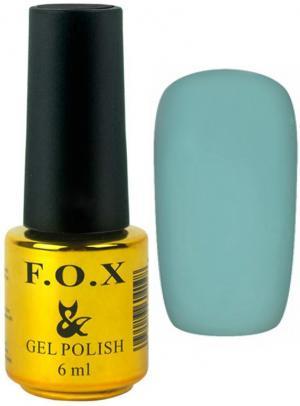 Гель-лак для нігтів FOX №160 Бірюзовий тьмяний 6 мл - 00-00008694