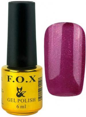 Гель-лак для нігтів FOX №163 Бордовий глітер 6 мл - 00-00008697