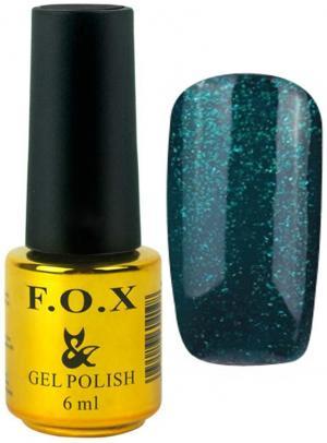 Гель-лак для нігтів FOX №164 Зелений глітер 6 мл - 00-00008698