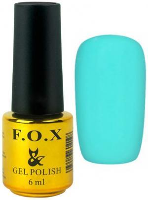 Гель-лак для нігтів FOX №166 Бірюзовий 6 мл - 00-00008700