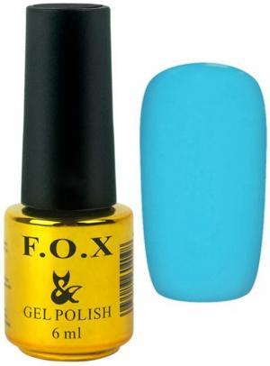 Гель-лак для нігтів FOX №168 Бірюзовий 6 мл - 00-00008702
