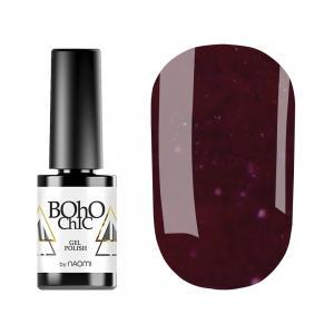 Гель-лак для нігтів Naomi Boho Chic №BC130 Щільний малиновий з червоними шимерами 6 мл - 00-00008918