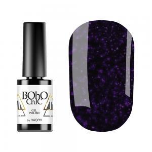 Гель-лак для нігтів Naomi Boho Chic №BC133 Щільний темний баклажанний з рожевими шимерами 6 мл - 00-00008922