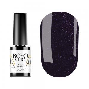 Гель-лак для нігтів Naomi Boho Chic №BC135 Щільний фіолетовий з рожевими блискітками 6 мл - 00-00008924