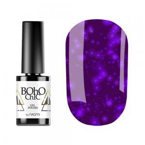 Гель-лак для нігтів Naomi Boho Chic №BC140 Напівпрозорий рожеві блискітки на бузково-рожевому тлі 6 мл - 00-00008929