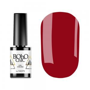 Гель-лак для нігтів Naomi Boho Chic №BC142 Щільний червоний (емаль) 6 мл - 00-00008931