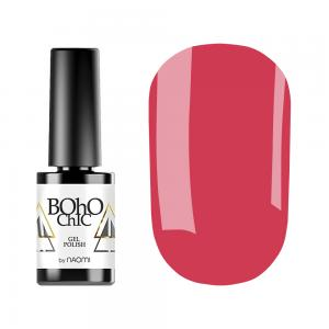 Гель-лак для нігтів Naomi Boho Chic №BC145 Щільний червоно-рожевий (емаль) 6 мл - 00-00008934