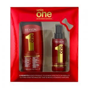 Набір для догляду за волоссям Revlon Professional Uniq One All in One (шампунь 300 мл. + спрей 150 мл.) - 00-00009118