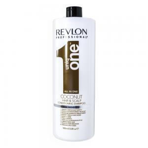 Шампунь-кондиціонер для волосся з ароматом кокосу Revlon Professional Uniq One All in One 1000 мл - 00-00009157