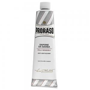 Крем для гоління для чутливої шкіри Proraso White Line 150 мл - 00-00009181