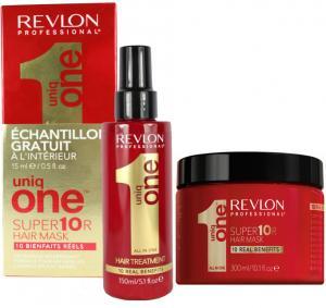 Набір для догляду за волоссям Revlon Professional Uniq All in One (маска 300 мл. + спрей 150 мл.) - 00-00010013