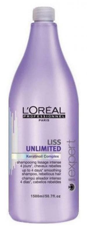 Разглаживающий шампунь для сухих и непослушных волос L'Oreal Professionnel Liss Unlimited 1500 мл - 00-00010015