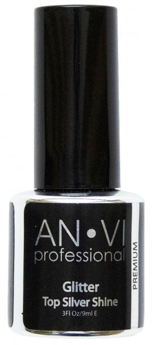 Закріплювач ANVI Glitter Top Shine Silver 9 мл   - 00-00010641