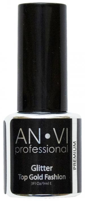Закріплювач ANVI Glitter Top Gold Fashion 9 мл   - 00-00010642
