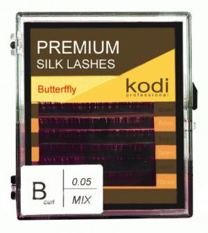 Вії для нарощення, чорні Kodi Professional Butterfly №В.0.05 6 рядів: 8-2; 9-2; 10-2