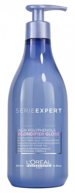 Шампунь для блеска волос L'Oreal Professionnel Blondifier Gloss Shampoo, 500 мл - 00-00010721