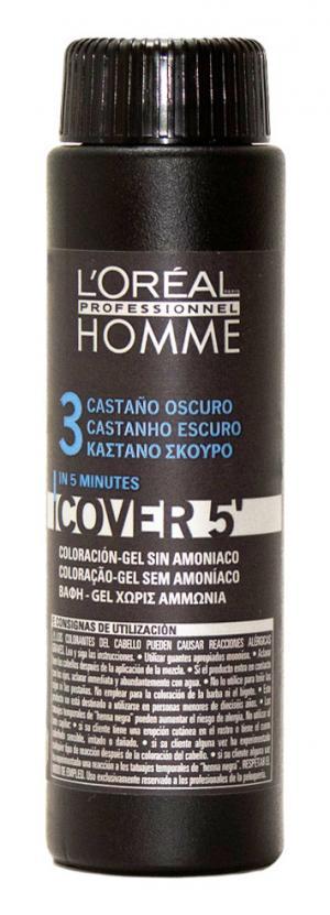Комуфляж L'Oreal Professionnel темний шатен Homme Cover 5 (3), 3*50 мл - 00-00010738