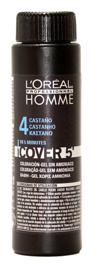 Камуфляж L'Oreal Professionnel шатен  Homme Cover 5 (4), 3*50 мл - 00-00010739