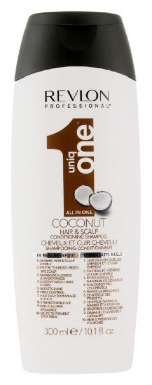 Шампунь-кондиціонер для волосся з ароматом кокосу Revlon Professional Uniq One All in One 300 мл - 00-00010746