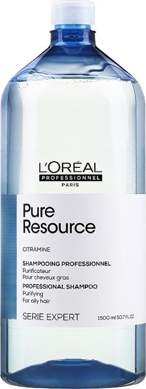 Очищающий шампунь для нормальных и жирных волос L'Oreal Professionnel Pure Resource 1500 мл - 00-00010751